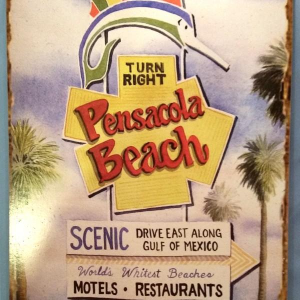 pensacola beach marlin sign plaque