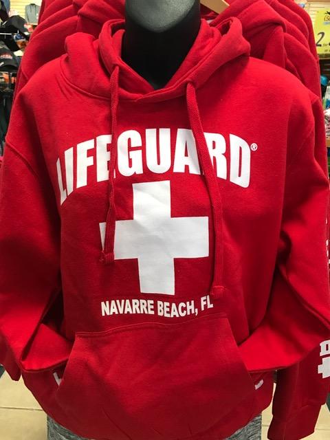 771489bef76e Navarre Beach Lifeguard Hoodie - Island Style Florida